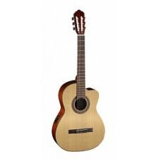 Классическая гитара со звукоснимателем, с вырезом, Cort AC120CE-OP