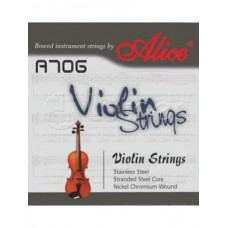 A706 Комплект струн для скрипки [12] сталь/никель, Alice