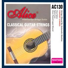 Комплект струн для классической гитары, нейлон, посеребренная медь Alice AC130
