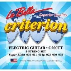 Комплект струн для электрогитары 008-038 La Bella C200TT Criterion