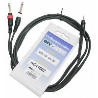 Invotone ACA1002 - Аудио кабель, stereo jack 3,5 <-> 2 x mono jack 6,3  длина 2 м