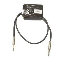 Invotone ACI1001BK - инструментальный кабель, mono jack 6,3 <-> mono jack 6,3, длина 1 м (черный)