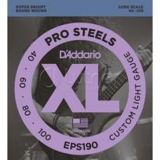 Струны для 5-струнной бас-гитары D'ADDARIO EPS190