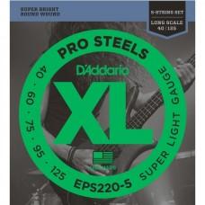 Струны для 5-струнной бас-гитары D'ADDARIO EPS220