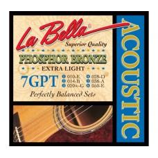 Комплект струн для акустической гитары 10-50 La Bella 7GPT
