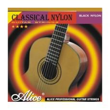 Комплект струн для классической гитары, черный нейлон, Alice A107BK