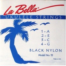 Комплект струн для укулеле сопрано La Bella 15-BLACK