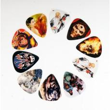 Медиаторы разноцветные,  рисунок на одной стороне, 0,71-8,81мм, Alice AP-10R1