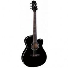 Акустическая гитара с вырезом Naranda, TG220CBK