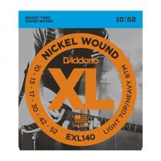 Комплект струн для электро-гитары 10-52 D`Addario EXL140 XL NICKEL WOUND