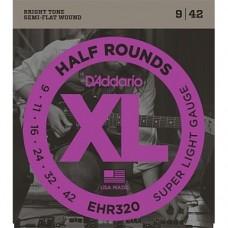 Комплект струн для электрогитары, Super Light, усиленные, 9-42, D'Addario EKXL120 Nickel Wound