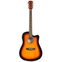 Электроакустическая гитара Fabio FAW-701VS CEQ (SB)